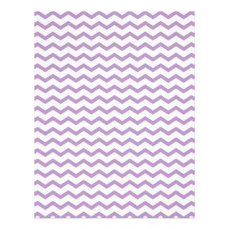 Trendy Purple Chevron Design Personalized Letterhead