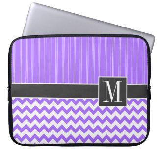 Trendy Purple Chevron Laptop Sleeves