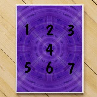 Trendy Purple Circle Pattern Countdown Calendars