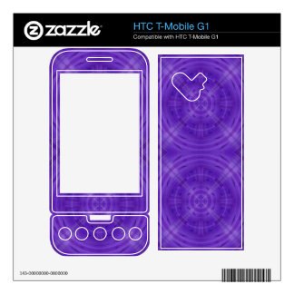 Trendy Purple Circle Pattern Skins For HTC T-Mobile G1