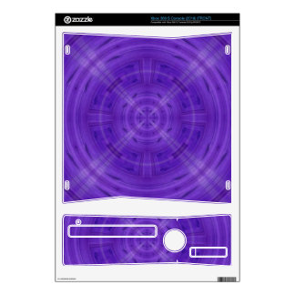 Trendy Purple Circle Pattern Skin For Xbox 360 S