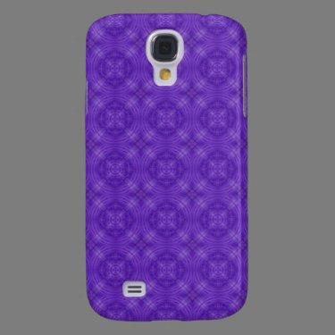 Trendy Purple Circle Pern Samsung Galaxy S4 Cover