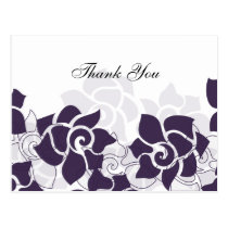 trendy purple floral ThankYou Cards