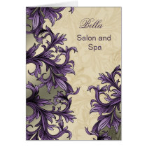 trendy purple flourish  Business Thank You Cards