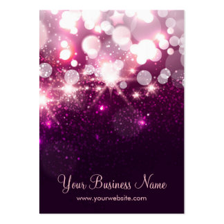 Trendy Purple Glitter Sparkle Earring Cards Large Business Cards (Pack Of 100)