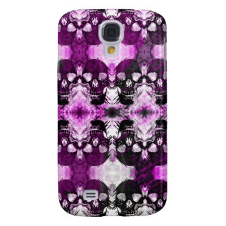 Trendy Purple Graphic Skull Samsung Galaxy S4 Cover