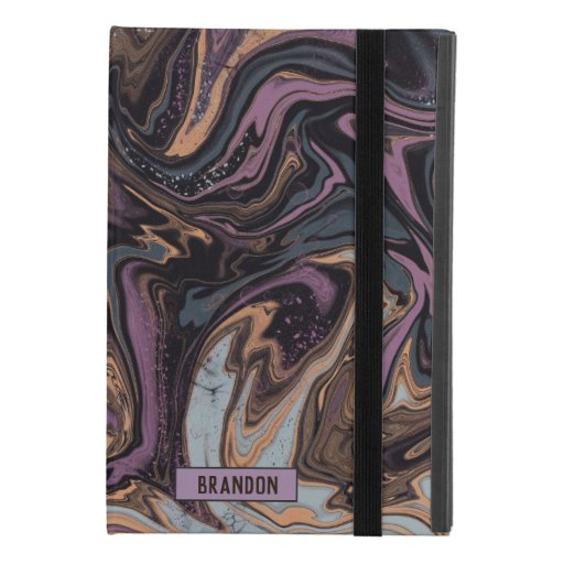 Trendy Purple grey marbling design iPad Mini 4 Case