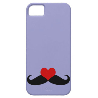 Trendy Purple I love Mustaches iPhone Case iPhone 5 Covers