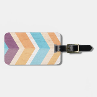 Trendy Purple Orange & Blue Chevron Personalized Luggage Tag