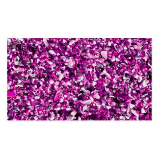 Trendy Purple Painted Pebble Beach Business Card Template