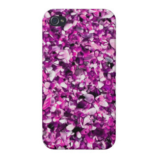 Trendy Purple Painted Pebble Beach Cases For iPhone 4
