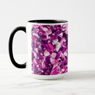 Trendy Purple Painted Pebble Beach Mug