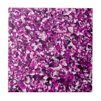 Trendy Purple Painted Pebble Beach Tiles