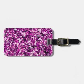 Trendy Purple Painted Pebble Beach Travel Bag Tag