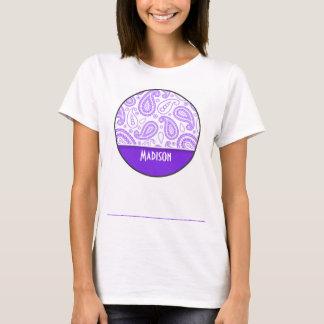 Trendy Purple Paisley T-Shirt