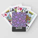 Trendy Purple Polka Dot Bicycle Playing Cards
