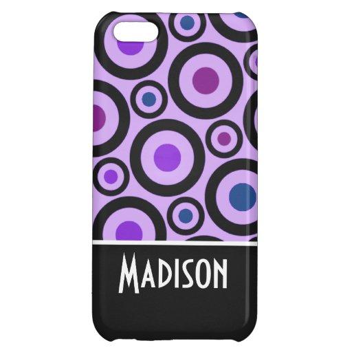 Trendy Purple Polka Dot iPhone 5C Case