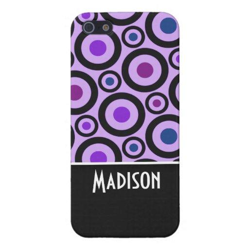 Trendy Purple Polka Dot Case For iPhone 5