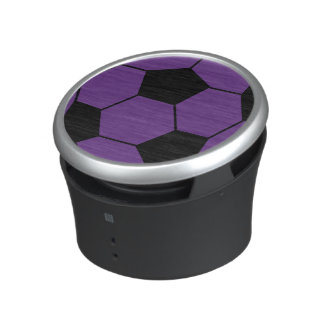 Trendy Purple Soccer Ball Speaker