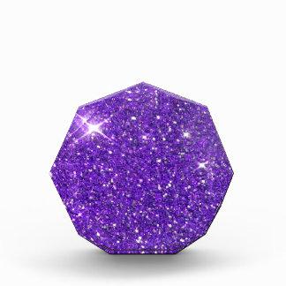 Trendy Purple Sparkling Glitter Glitz Acrylic Award