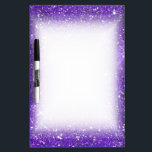 """Trendy Purple Sparkling Glitter Glitz Dry-Erase Board<br><div class=""""desc"""">A slightly bokeh style image of sparkling stylish purple glitter. Add a touch of glamor and luxury to your life!  Note: Glitter is printed.</div>"""