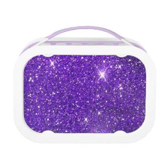 Trendy Purple Sparkling Glitter Glitz Lunch Box