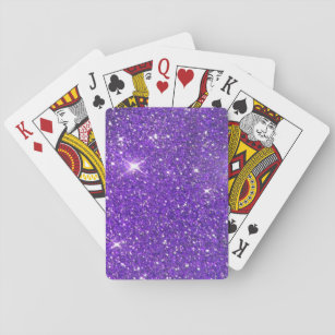 Trendy Purple Sparkling Glitter Glitz Playing Cards