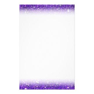 Trendy Purple Sparkling Glitter Glitz Custom Stationery
