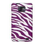 Trendy Purple White Zebra Stripe Wild Animal Print Galaxy SII Case