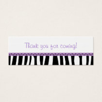 Trendy Purple Zebra Print Party Favor Gift Tags