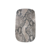 Trendy Python Snake Skin - Rich Elegant Fashion Minx Nail Art