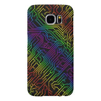 Trendy Rainbow Circuit Board Pattern Samsung Galaxy S6 Case