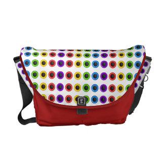 "Trendy rainbow ""polka dot"" bright messenger bags"