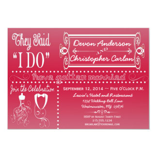 Trendy Reception Only Chalkboard Invitation
