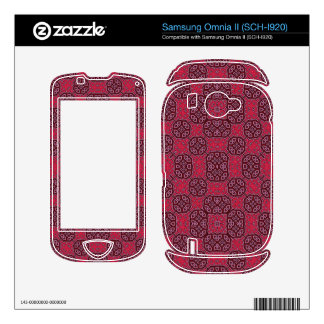 Trendy Red Abstract Pattern Samsung Omnia II Decal