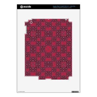 Trendy Red Abstract Pattern Skin For iPad 3