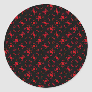 Trendy Red and Black Goth Pattern Stickers