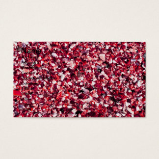 Trendy Red and Pink Painted Pebble Beach Business Card