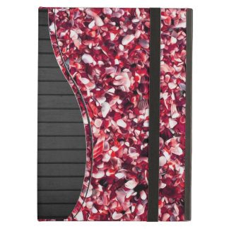 Trendy Red and Pink Painted Pebble Beach Cover For iPad Air