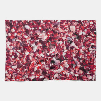 Trendy Red and Pink Painted Pebble Beach Towels