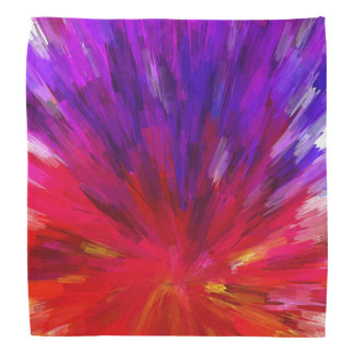 Trendy Red And Purple Abstract Colorburst Bandana