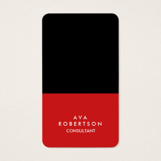 Trendy Red Black Creative Consultant Manager Business Card