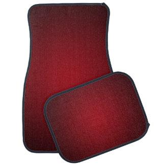 Trendy Red-Black Grainy Vignette Car Mat