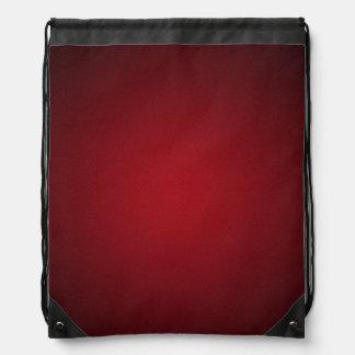 Trendy Red-Black Grainy Vignette Drawstring Bag
