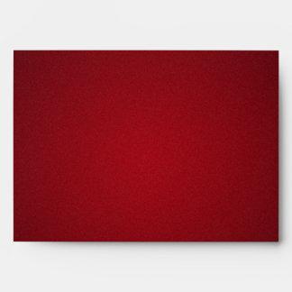Trendy Red-Black Grainy Vignette Envelope