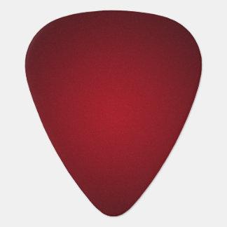 Trendy Red-Black Grainy Vignette Guitar Pick