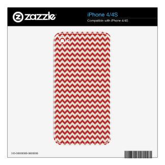 Trendy Red Chevron Stripe iPhone 4S Decal