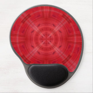 Trendy Red Circle Pattern Gel Mouse Pad