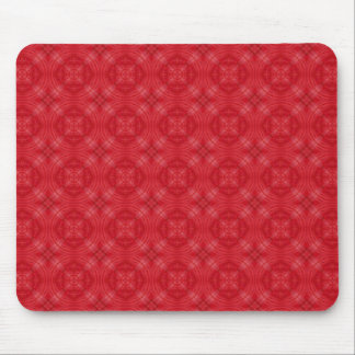 Trendy Red Circle Pattern Mouse Pad