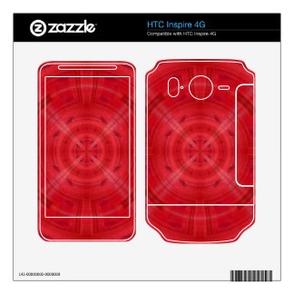 Trendy Red Circle Pattern Skins For HTC Inspire 4G